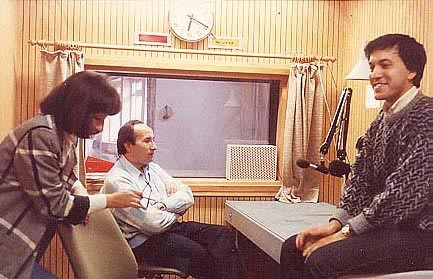 Farida Wahlroos, Hairettin Gyulechyuz and Sabirjan Badretdin in recording studio